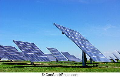 Photovoltaic panels.