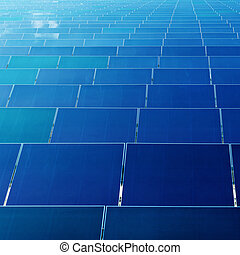 Photovoltaic power generation panel - A large number of...