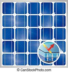 photovoltaic, sol energi, avdelning, -, kors, modul, 1200, cell, vektor, size:, bakgrund, x, avbild, px, förnybart, panel