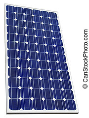 Photovoltaic Solar Cell Cutout - Solar Cell Isolated with...
