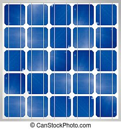 Photovoltaic solar panel module background - Renewable Energy - Size: 1200 x 1200 px - Vector image