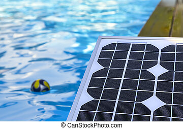 photovoltaic solar panels for heating water in the pool