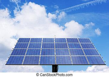 Photovoltaic - Rotatable solar mirror generating...