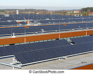 Great roof with photovoltaic systems in one operation