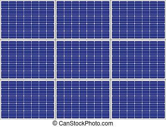 photovoltaic, vector, paneel