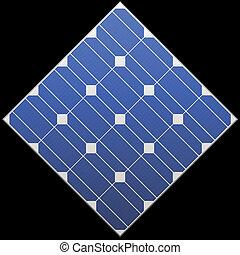 photovoltaic, vektor, panel