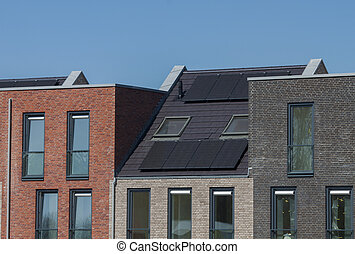 photovoltaics on a domestic house in a new build township -...