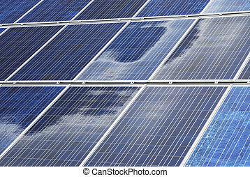 Photovoltaics - Renewable Energy - Solar panel background