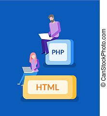 PHP and HTML, Programmer Work, IT Technologies - PHP and...