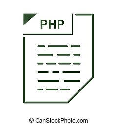 PHP file icon, cartoon style