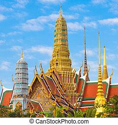 phra, kaew, tailandia, wat, bangkok, temple.