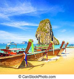 Phra Nang tropical Beach in Krabi, Thailand