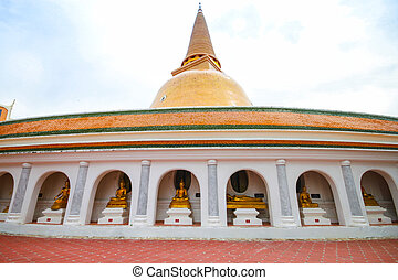 Phra Pathom Chedi temple in Nakhon Pathom Province, Thailand.