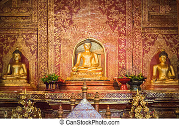"""""""Phra Sihing Buddha"""" in the temple Chiang Mai, Thailand"""