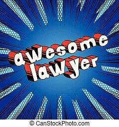 phrase., -, abogado, cómico, estilo, impresionante, libro