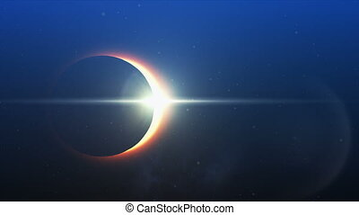 Phrase Be more adventurous and and solar eclipse - Digitally...