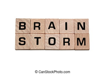Phrase Brain Storm made with tiles
