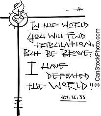 phrase:, mundo, bliblic, tener, derrotado