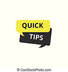 Phrase quick tips concept, flat vector illustration.