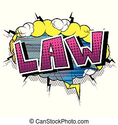 phrase., -, vecteur, comique, style, droit & loi, livre illustré