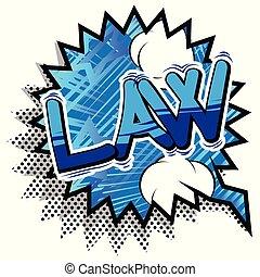 phrase., -, vecteur, comique, style, droit & loi, livre ...
