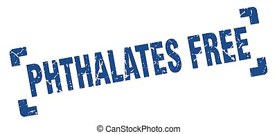 phthalates free stamp. square grunge sign isolated on white background