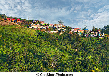 Many resorts at Phu tub berk mountain, Phetchabun, Thailand.