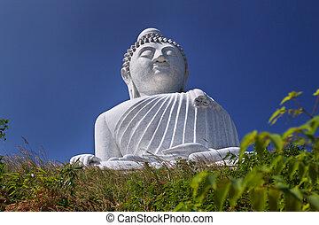 Phuket Buddha Blue - An image of the big buddha in Phuket...