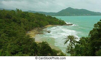 phuket, gens., exotique, off-season, sans, thaïlande, plage
