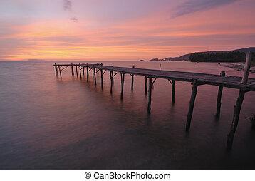 phuket, plage, vue