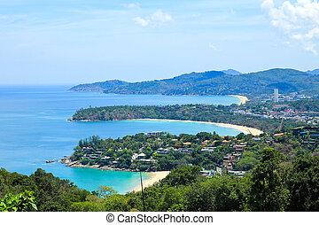 phuket, point, thailand., paysage, sud, vue