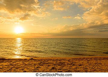 phuket, ponto, surin, praia, paisagem, vista