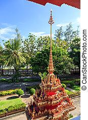 phuket, soleado, templo, chalong, tailandia, wat, día