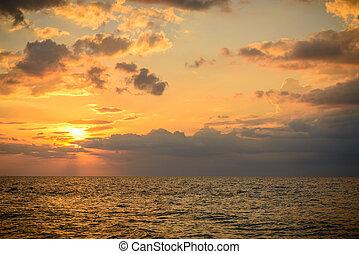 phuket, surin, vista, playa, punto, paisaje