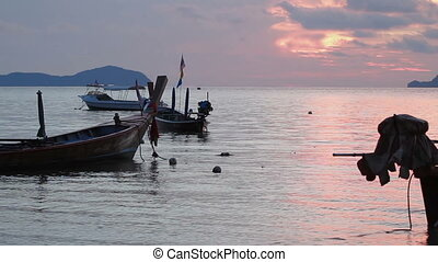 PHUKET, THAILAND - November 20, 2012. Sunrise on Rawai...