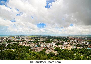 Phuket Town from Khao Rang viewpoint, Thailand