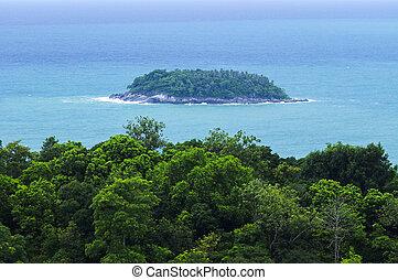 phuket, vista, ponto