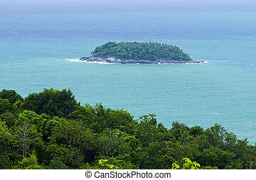 phuket, vue, paysage, point
