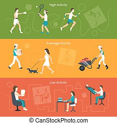 Physical Activity Banners - Physical activity horizontal...