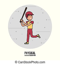 physical education - boy baseball equipment design
