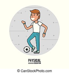 physical education - boy with soccer ball