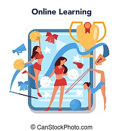 Physical education lesson school class online service or ...