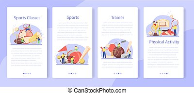 Physical education or school sport class mobile application ...