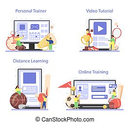 Physical education or school sport class online service or ...