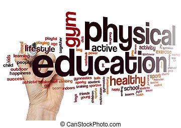Physical education word cloud