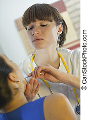 physical examination by doctor