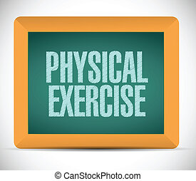 physical exercise message illustration design