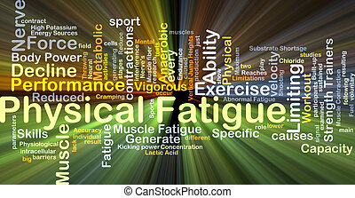 Physical fatigue background concept glowing - Background...