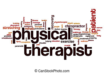 Physical therapist word cloud concept