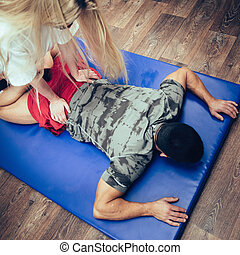 Physical therapy - Working with back